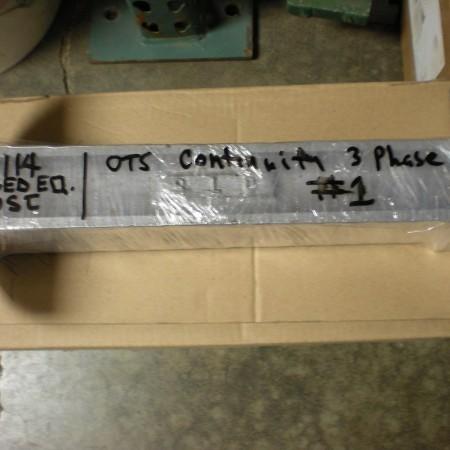 114 OTS #1 Continuity Phase Head