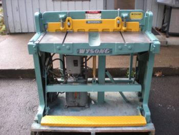 6 Wysong Hydraulic 36 Inch Shear pic.1